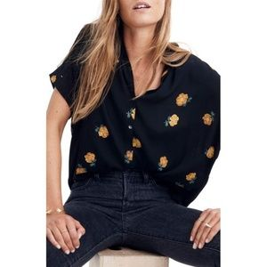 Madewell Drapey Central Shirt In Floating Florets